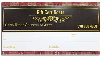 Green Ridge Country Market Gift Card